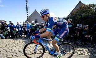 Le Belge Antoine Demoitié sur la course E3 Prijs Vlaanderen Harelbeke, le 25 mars 2016, deux jours avant sa mort sur Gand-Wevelgem.