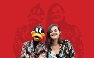L'artiste Popnographe et son amie Elodie Patente.