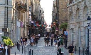 Bordeaux. Centre-ville. Rue Saint-Rémi.