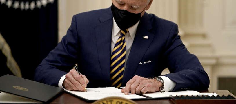 Joe Biden à Washington, le22/01/2021.