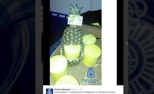 De la cocaïne dans des ananas