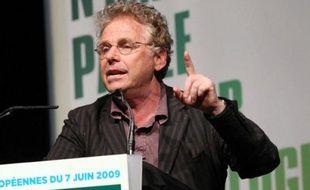 Daniel Cohn-Bendit, en campagne à Bordeauxpour les européennes, sous les couleurs d'Europe-écologie, le 24 mai 2009.