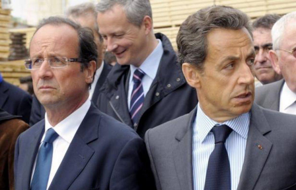 """La perte du triple A infligée à la France par l'agence Standard and Poor's (S&P) pèsera lourd sur la présidentielle, assurent les éditorialistes samedi et si """"le coup est rude"""", au premier chef pour Nicolas Sarkozy, le """"séisme"""" ébranle tous les prétendants à l'Elysée. – Philippe Wojazer afp.com"""