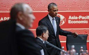 Obama et Poutine, le 20 novembre 2016 à Lima, Pérou.