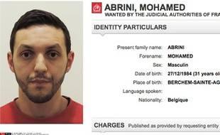 Mohamed Abrini recherché après les attentats de Paris, Saint-Denis et Bruxelles.