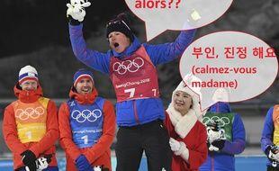 Marie Dorin-Habert était on fire sur le podium du relais mixte