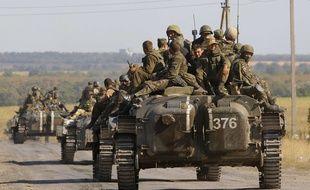 Des troupes ukrainiennes quittent l'est de l'Ukraine