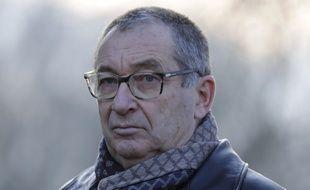 Guermantes (Seine-et-Marne), le 13 janvier 2018. Eric Mouzin participe à une marche en souvenir de sa fille, Estelle, disparue en 2003.