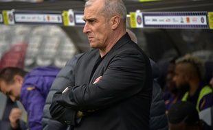 Alain Casanova, l'entraîneur du TFC, lors du match de Ligue 1 contre Dijon au Stadium de Toulouse, le 2 décembre 2018.