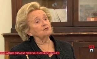 Bernadette Chirac dans la «Nouvelle Edition» sur Canal+ le 8 mai 2014.