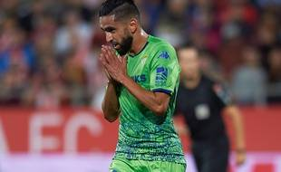 Ryad Boudebouz, le milieu international algérien sous le maillot du Betis Séville.