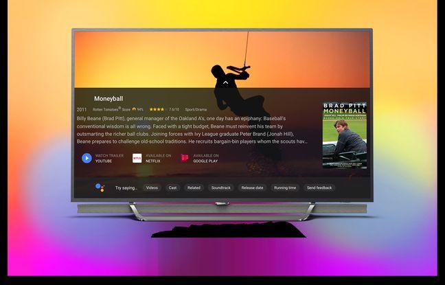 Le téléviseur OLED Serie 9 de Philips et son interface dédiée à Google Assistant.