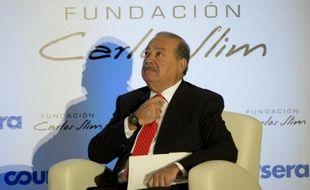 Le millardaire mexicain Carlos Slim, à Mexico le 29 janvier 2014
