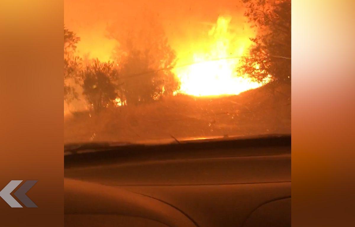 Ils parviennent à s'échapper d'un terrible incendie en Californie - Le Rewind – Capture d'écran