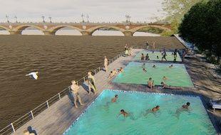 Le groupe «Bordeaux maintenant !» propose une piscine sur la Garonne