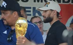 Nabil Fekir n'est resté qu'une quinzaine de minutes ce mardi au au stadeFrancisque Jomard de Vaulx-en-Velin.