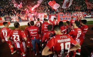 L'Etoile rouge de Belgrade avait joué contre le rival du Partizan devant 16.000 spectateurs