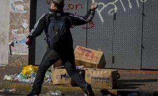 Un manifestant lors d'une manifestation anti-gouvernementale à Caracas, au Venezuela, le 12 février 2014.