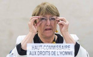 La Haut-Commissaire de l'ONU aux droits de l'homme, Michelle Bachelet, le 18 décembre 2019 à Genève