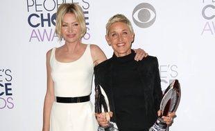 L'actrice Portia de Rossi et son épouse, l'animatrice-productrice Ellen DeGeneres