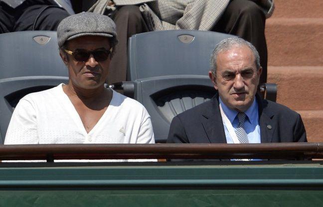 Yannick Noah aux cts du prsident de la FFT Jean Gachassin,  Roland-Garros, le 5 juin 2013.