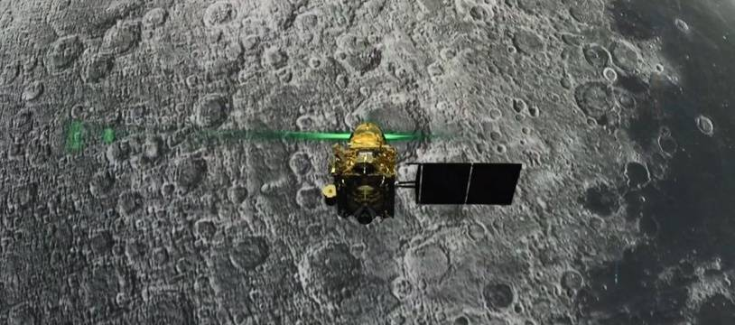 La sonde indienne Vikram le 6 août 2019, soit la veille de la date prévue pour son alunissage.