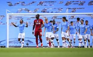 Manchester City a battu Liverpool 4-0 lors de la 32e journée de Premier League, le 2 juillet 2020.
