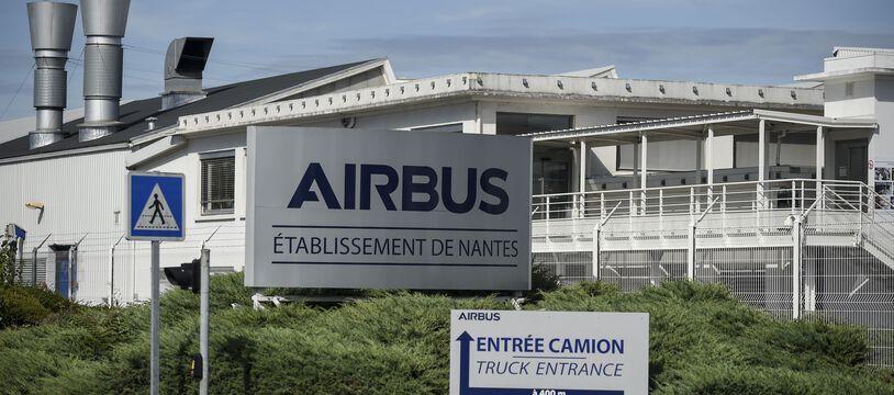 L'énorme usine Airbus de Bouguenais, près de Nantes (illustration).
