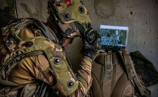 Dans le centre d'entraînement de l'armee de terre Cenzub (illustration)