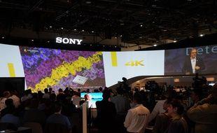 La 4K, fer de lance de Sony lors de sa conférence de presse au CES 2015.