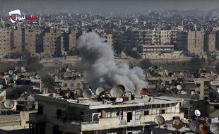 Une vidéo fournie par le réseau de nouvelles d'Alep.