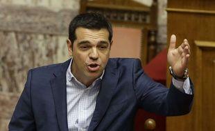 Alexis Tsipras, le Premier ministre grec, à l'Assemblée, le 31 juillet 2015.