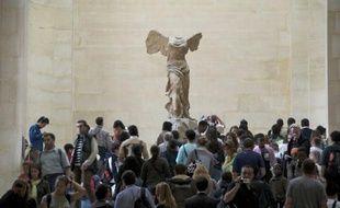 La Victoire de Samothrace au Louvre, en 2008.