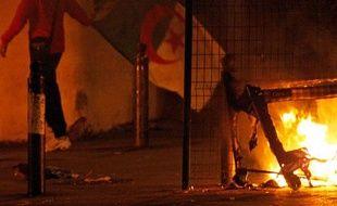 Incidents dans les rues de Marseille après la défaite de l'Algérie contre l'Egytpe, le 14 novembre 2009.