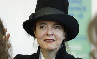 L'ecrivaine belge Amelie Nothomb invitee d'honneur de «Radio France fete le Livre» a la Maison de la Radio en 2018.