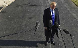 Doland Trump à Washington, le 16 décembre 2017