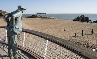 La plage de M. Hulot à Saint-Nazaire //SALOM-GOMIS_hul001/Credit:SEBASTIEN SALOM GOMIS/SIPA/1803061929