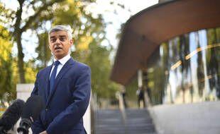 Conférence de presse de Sadiq Khan, maire de Londres, à Scotland Yard, le 25 septembre 2020