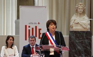 La socialiste Martine Aubry a été élue maire de Lille par le conseil municipal.