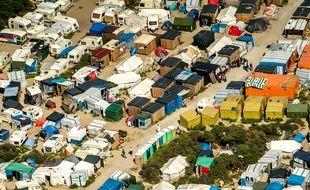 Le camp de migrants de Calais, en août 2016