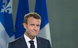 Emmanuel Macron à Montréal, le 07 juin 2018.