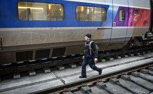 Un voyageur prêt à prendre le train