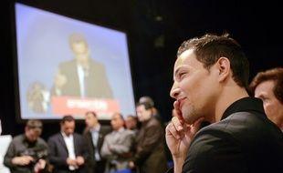 Steevy a un meeting de Nicolas Sarkozy à Rouen, le 24 avril 2007.