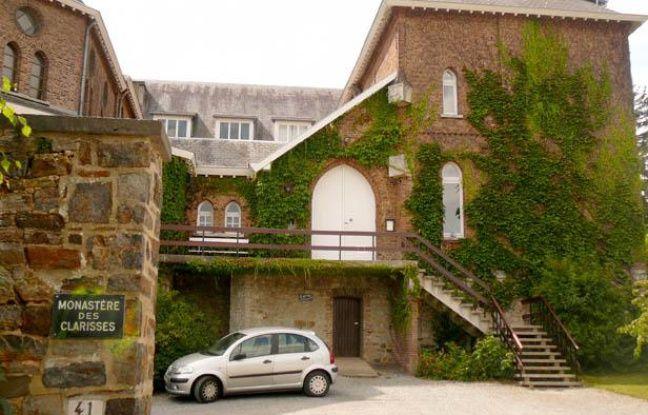 Le monastère des Clarisses à Malonne le 22 août 2012 où Michèle Martin, l'ex-femme de Marc Dutroux doit être accueillie à sa sortie de prison.