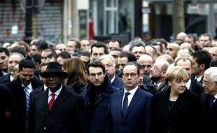 Les dirigeants internationaux défilent à la «marche républicaine»