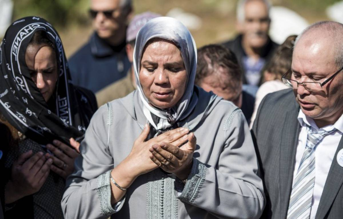 Latifa Ibn Ziaten, mère de la première victime de Mohamed Merah, le 11 mars 2017 à M'diq, au Maroc, lors d'une cérémonie d'hommage à son fils. – F. Senna / AFP