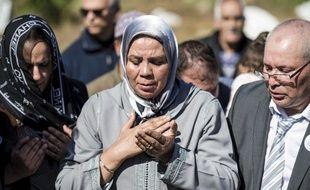 Latifa Ibn Ziaten, mère de la première victime de Mohamed Merah, le 11 mars 2017 à M'diq, au Maroc, lors d'une cérémonie d'hommage à son fils.