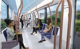 L'aménagement intérieur des rames du Métropolis d'Alstom.