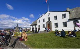 Le siège du gouvernement islandais à Reykjavik, le 17 juin 2012.