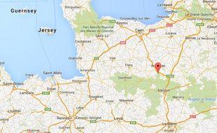 Carte de localisation de Vrigny (Orne).